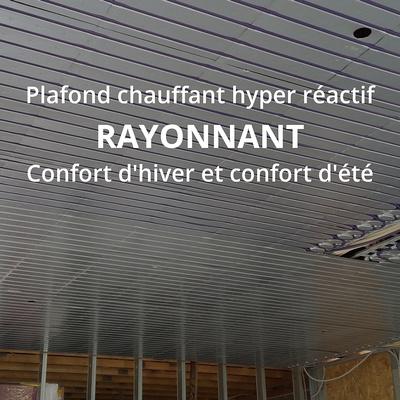 Les avantages d''un plafond chauffant : température identique du sol au plafond