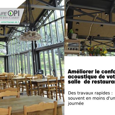 Opi : isolation thermique et acoustique de votre restaurant.