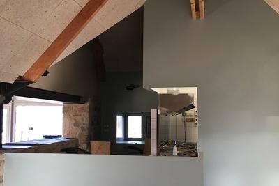 Plafond et isolation de la crêperie du camping 5* « le Ranolien » - Ploumanach