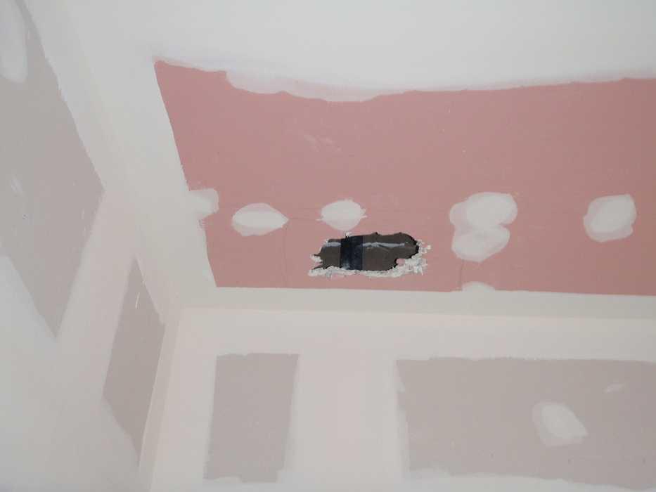 Construction neuve : cloisons et plafonds - Ecole maternelle - Plouguiel p1010089