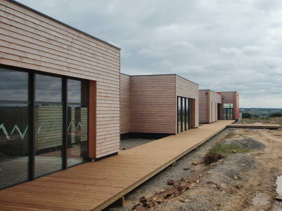 Construction neuve : cloisons et plafonds - Ecole maternelle - Plouguiel 0