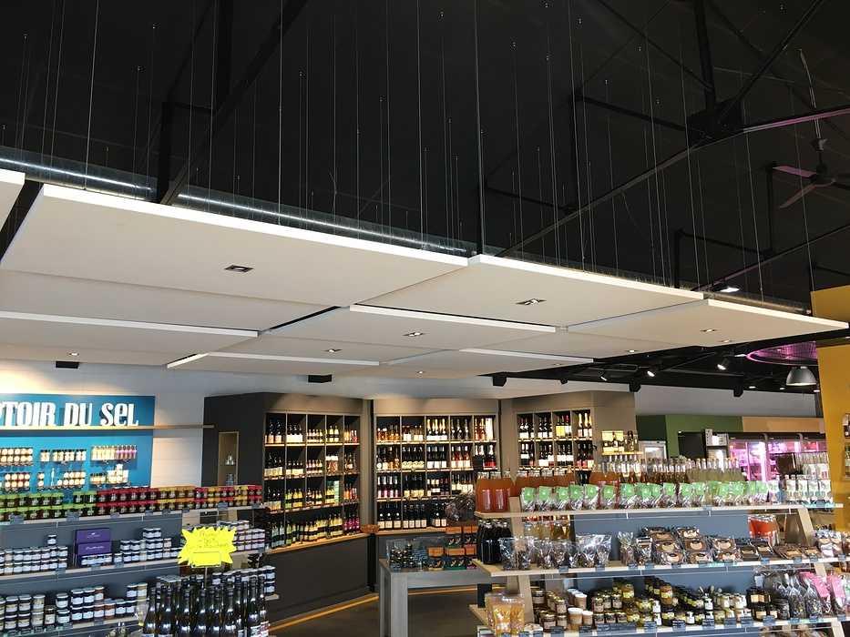 Plafonds et piéges à son : magasin l'Atelier Fermier - Ploumanach img4120