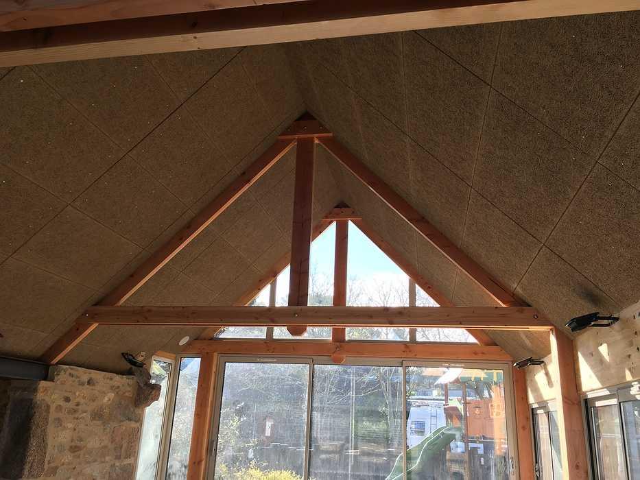 Plafond et isolation de la crêperie du camping 5* « le Ranolien » - Ploumanach img4124