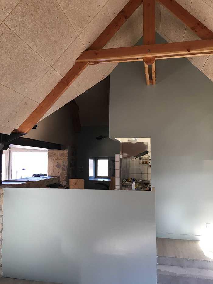 Plafond et isolation de la crêperie du camping 5* « le Ranolien » - Ploumanach img4127