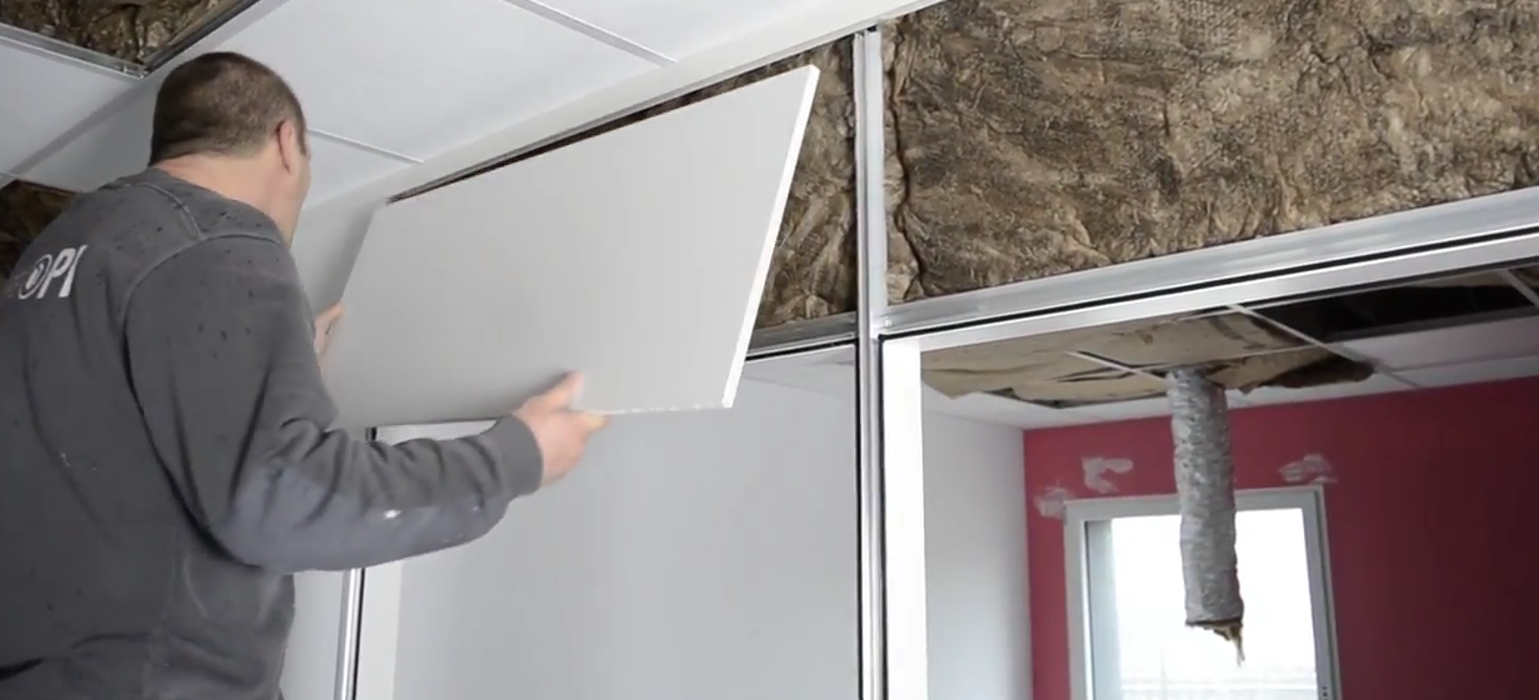 Vidéo : Isolation des cloisons intérieures - bureaux neufs 0