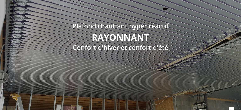 Les avantages d''un plafond chauffant : température identique du sol au plafond 0