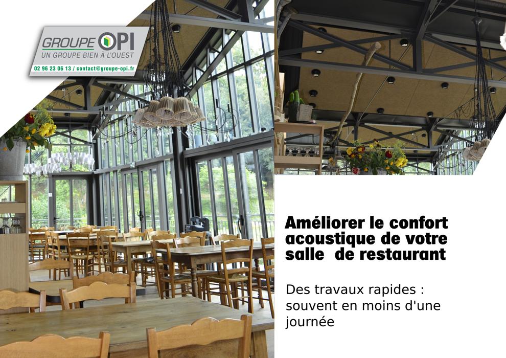 Opi : isolation thermique et acoustique de votre restaurant. 0
